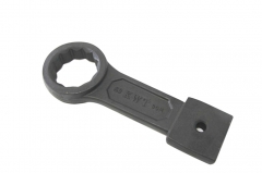 Industrial SCM Steel Slogging Impact Ring Spanner Option:22,60,63mm KWT Taiwan