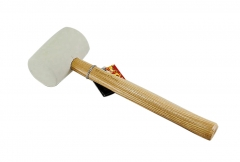 White Soft  Rubber Mallet Tile Tapping Hammer 8/16/24oz