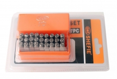 Cr-V Steel Professional 27pc A-Z Alphabet Letter Punch Stamp