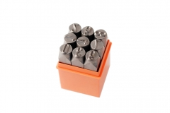 Cr-V Steel Professional Dia. 6mm 0-9 9pc Number Punch Stamp