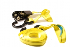 "2pc-pack 5m Ratchet Cargo Load & Pipe Rack Strap Tie Down 1""x5m LC500kg"
