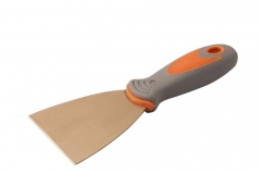 Spark Proof Non Sparking Be-Cu Copper Putty Knife Scraper Soft Grip Handle