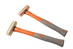 Non-Sparking Spark Proof 690gm Drum Type Double Face Hammer Be-Cu Copper/ Al-Br Brass