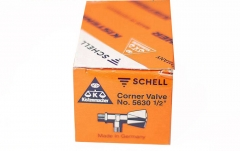 "Schell German Made Regulating Corner Valve Angle Valves 1/2""x1/2"" D15 G Handle"