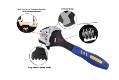 "Cr-V 3-in-1 12""/300mm Multi-Function Wide Opening Adjust Pipe Hammering Wrench Construction Shifter"