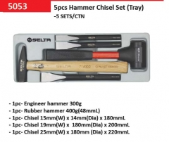 Selta Taiwan Mechanic's  & Dead Blow Hammer & Cr-Mo Chisel 5pc Set