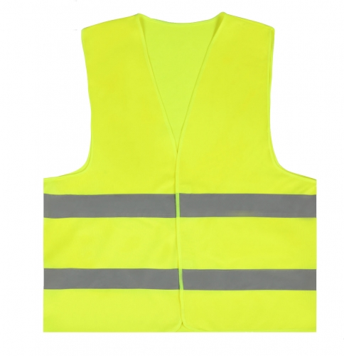 Hi Vis Yellow Safety Vest Reflective double Strips Work Jacket High Visibility
