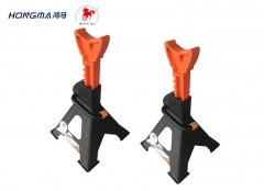 EN ISO Certificate Car Lifting Stand Steel Floor Jack Stands with Footpad 2pc-pack