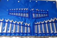 "30pc Combination Wrench Spanner 6-24mm+1/4""-1"" Metric SAE Set"